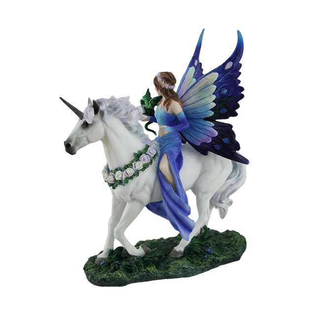 Anne Stokes Realm Of Enchantment Blue Fairy Statue Statues