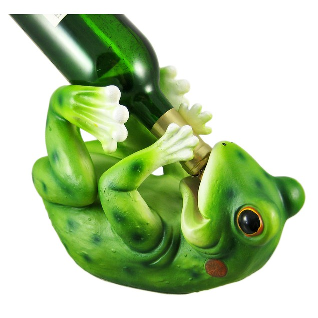 Funny Drinking Frog Wine Bottle Holder Kitchen Wine Racks