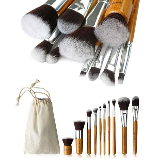 10 Piece Bamboo Brush Set