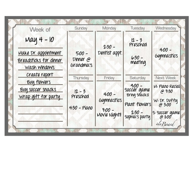 Weekly Calendar Magnet (11.5 x 7.5) - 4 Colors