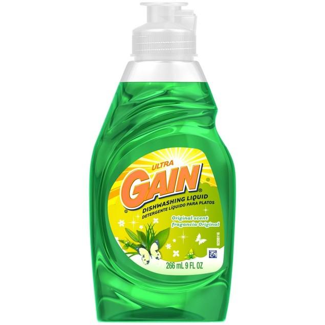 Gain Ultra Dishwashing Liquid Original Scent 8 oz Bottle