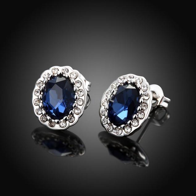 Sapphire Studded Earrings