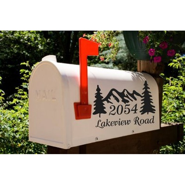 Mountain Ridge Mailbox Decal