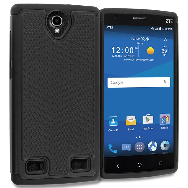 ZTE Zmax 2 Hybrid Rugged Armor Protector Hard Case Cover