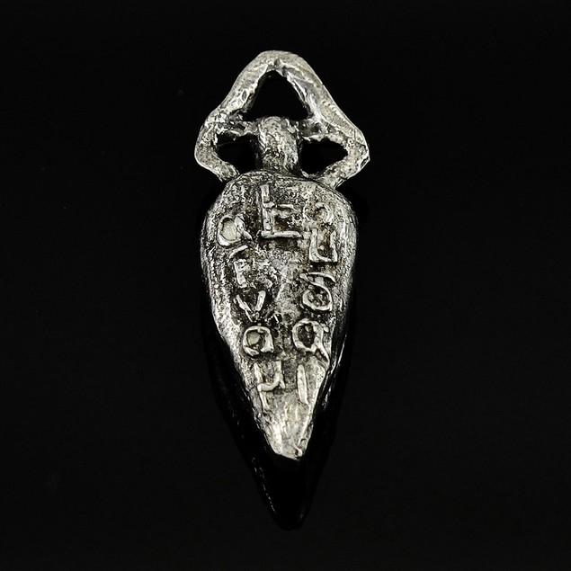 Greek `Live Well` Pewter Pendant Or Key Chain Pendants