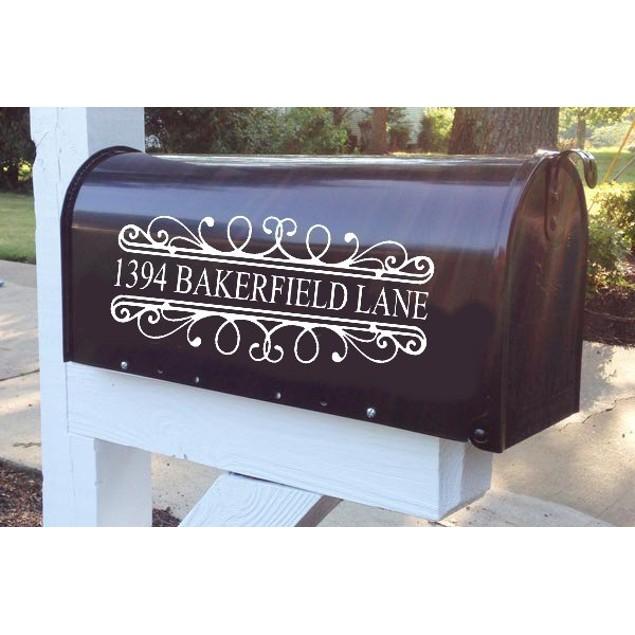 Vinyl Mailbox Address Decal 2