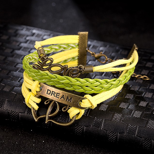 Yellow & Lime Intertwined Bracelet