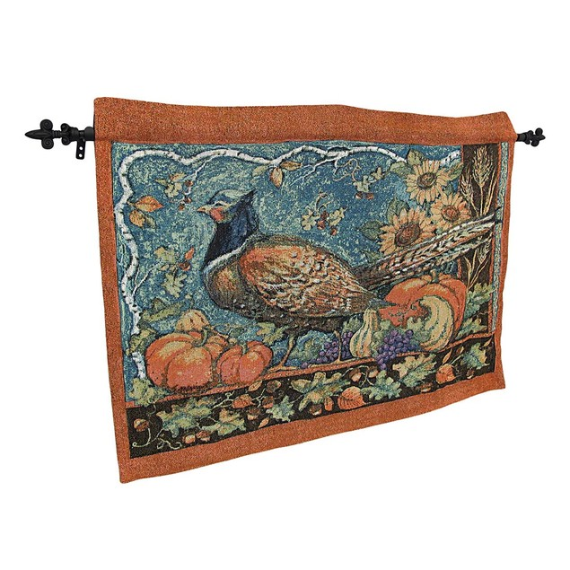 Susan Winget Harvest Pheasant Wall Hanging With Tapestries