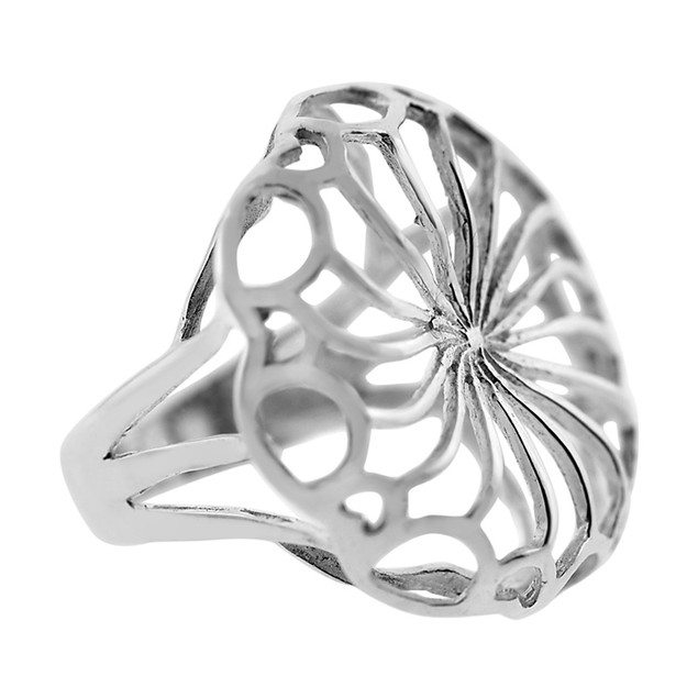 Wide Round Cut Out Ring