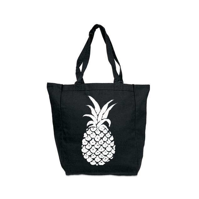 Pineapple Black Tote Bag
