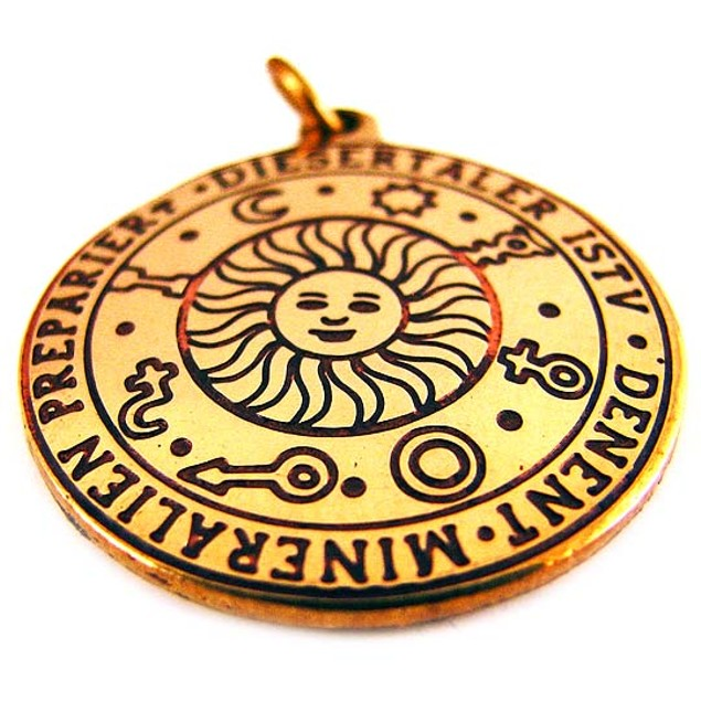 Brass Star Charm Sun Talisman Pendant Wealth Individual Pendants