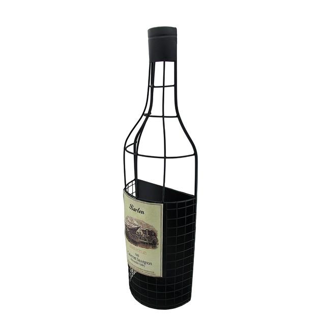 Wine Bottle Shaped Wall Mounted Metal Wine Cork Wine Racks