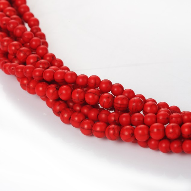 Coral Infinity Pear Drop Necklace