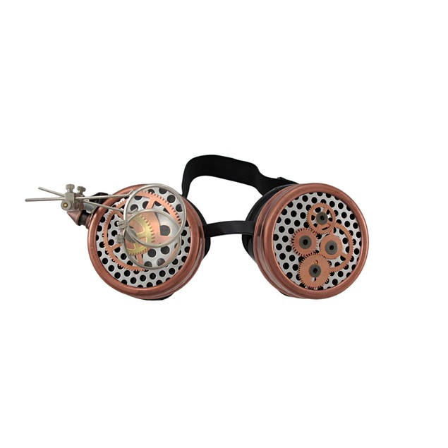 Steampunk Watch Gears Decorative Goggles W/ Mens Costume Headwear And Hats