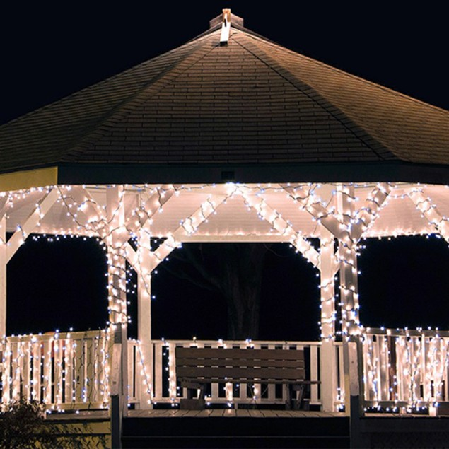 Solar String Lights with Clip and Stake - 200 LED