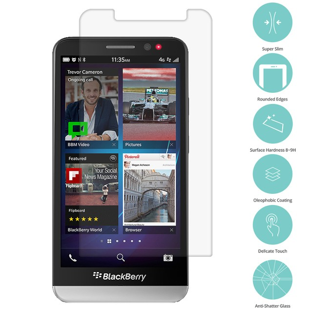 BlackBerry Z30 Tempered Glass Film Screen Protector Clear