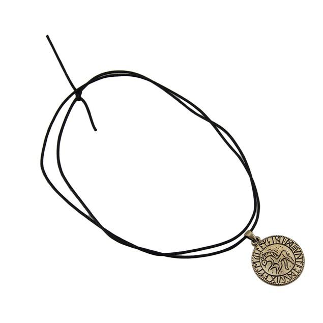Bronze Runic Circle Pendant Necklace Mens Pendant Necklaces