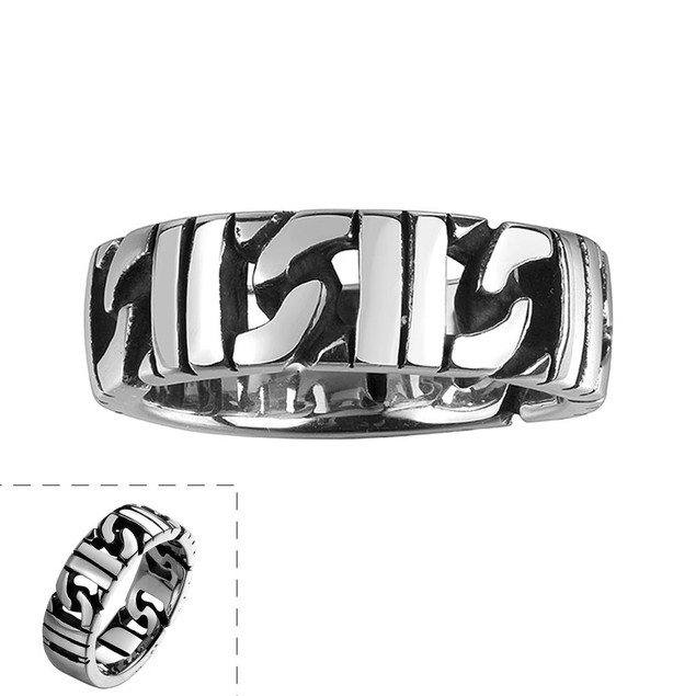 Stainless Steel Interlocked Classic Ring