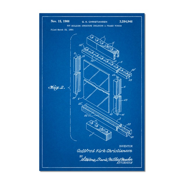 Lego Framed Window Building Kit Patent Poster