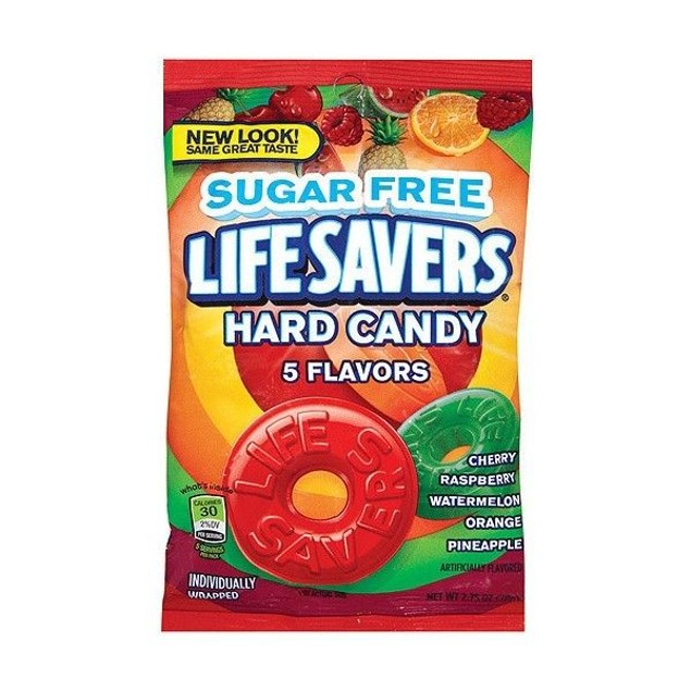 Life Savers Sugar Free Hard Candies 2.75 oz Bag