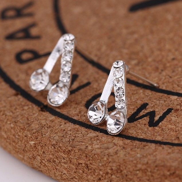 Silver Tone A Shaped Earrings