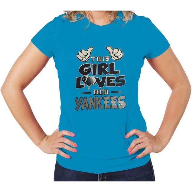 """This Girl Loves Her Yankees"" T-Shirt"