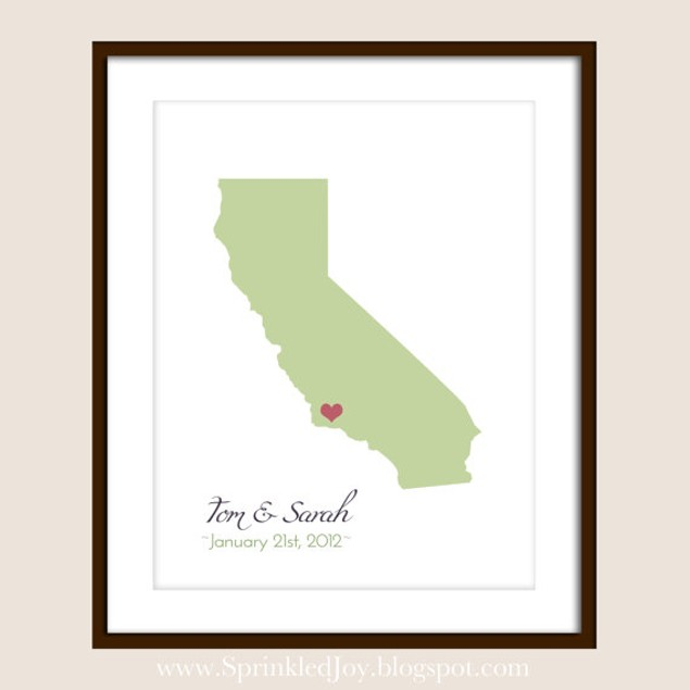 Personalized Love Story State Print
