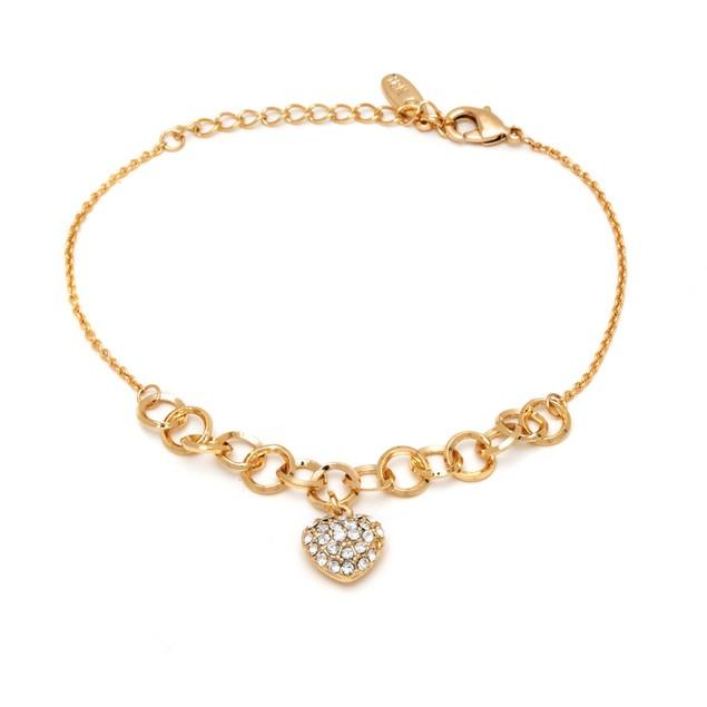 Swarovski Elements Heart Charm Bracelet