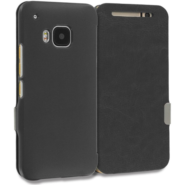 HTC One M9 Slim Wallet Magnetic Flip Case Cover