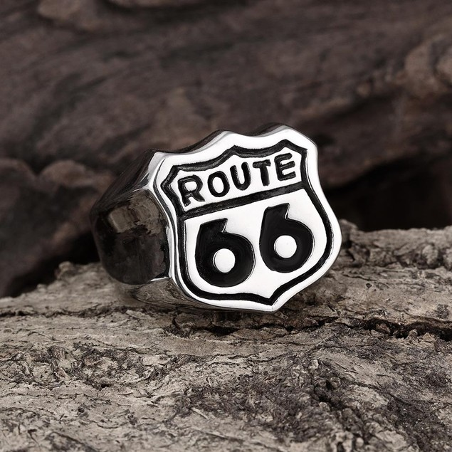 Highway to Hell Stainless Steel Ring
