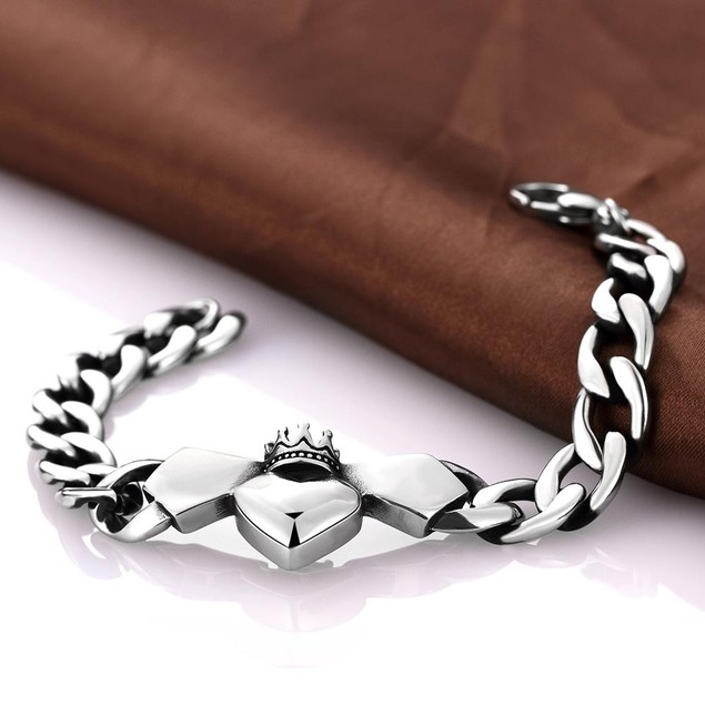 Trio-Hearts Stainless Steel Bracelet