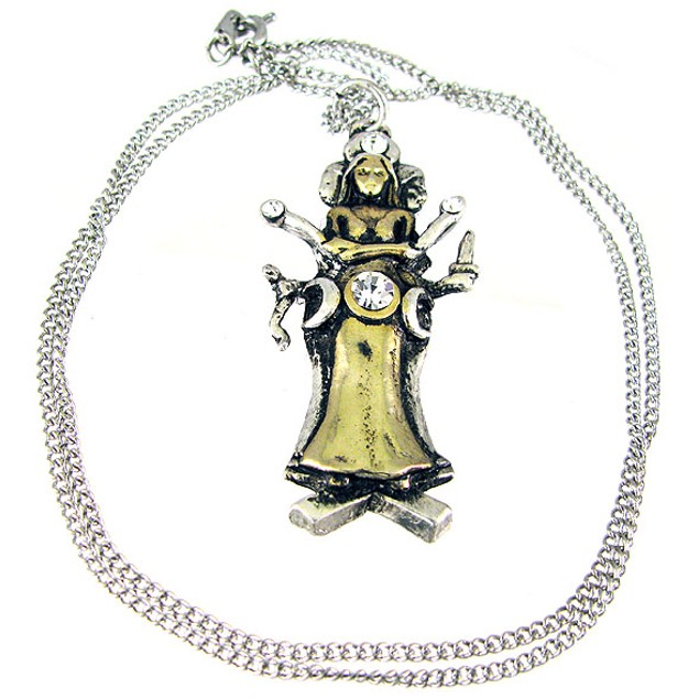 `Hecate` Two-Tone Pewter Pendant / Necklace Mens Pendant Necklaces