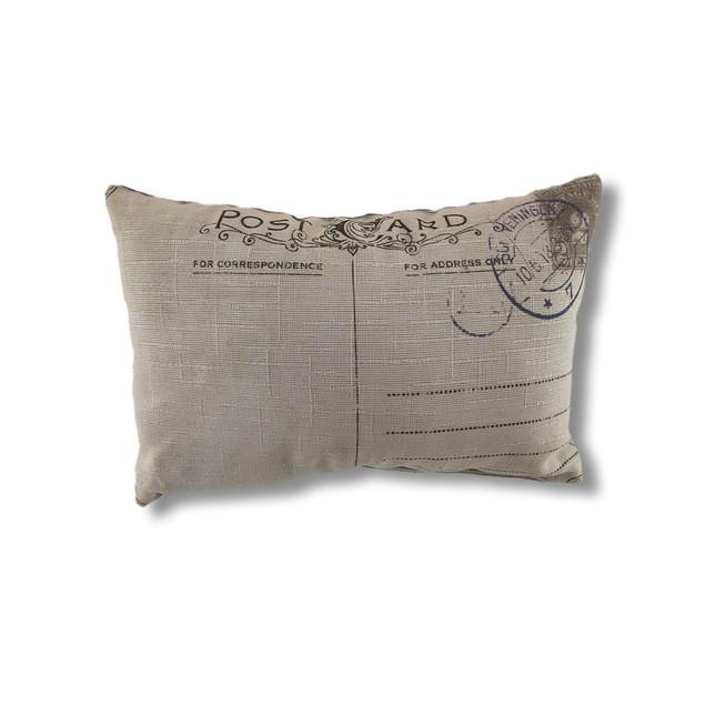 Don't Forget To Write Blank Customizable Postcard Throw Pillows