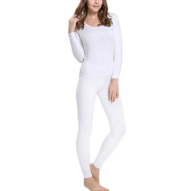 Women's Fleece Lined Thermal Underwear Set Top & Bottom