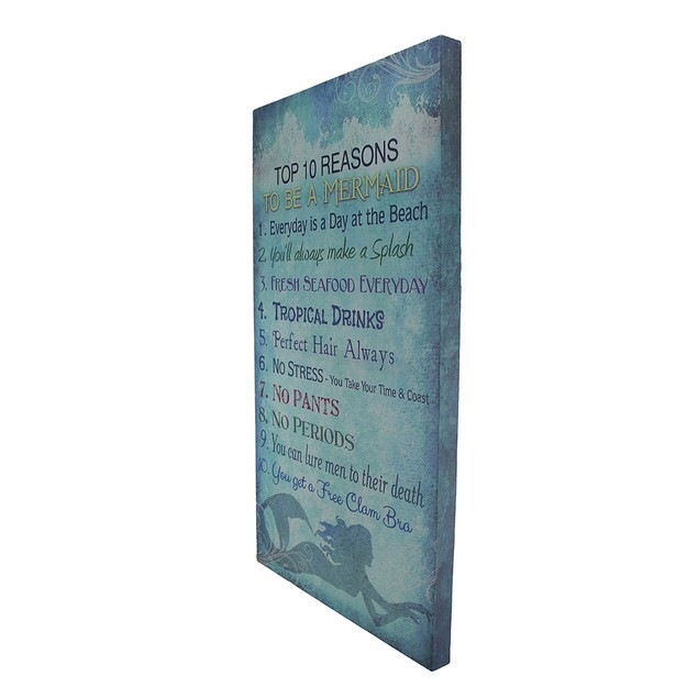Top 10 Reasons To Be A Mermaid Canvas Print Prints