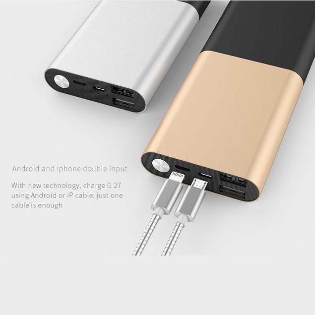 LAX Pro Series 12,000mAh Dual USB Port Power Bank
