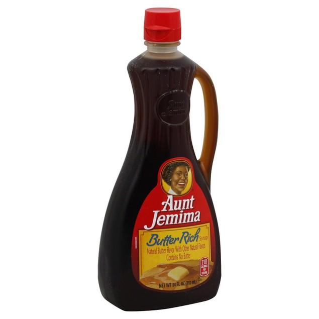 Aunt Jemima Butter Rich Pancake Waffle Syrup 24 oz