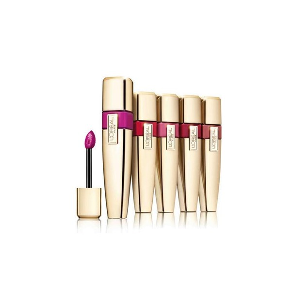 5-Pack Loreal Colour Riche Caresse Wet Shine Lip Stain - Assorted Colors