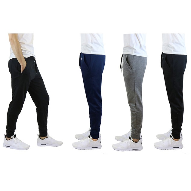 Men's Slim-Fit French-Terry Cotton-Blend Joggers