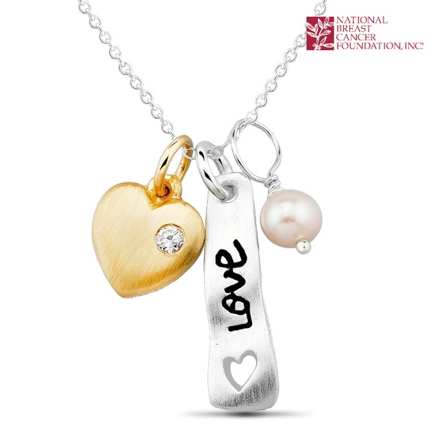 National Breast Cancer Foundation Inspirational Jewelry - Sterling Silver Love-Heart Pendant