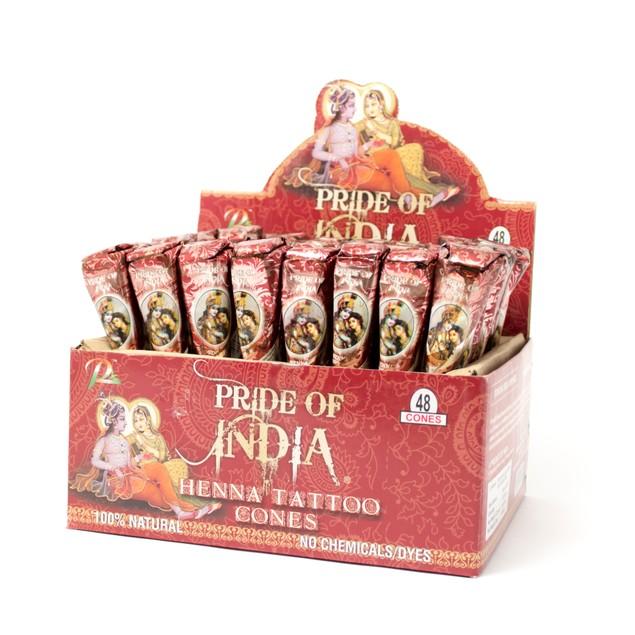 Pride Of India - Herbal Henna Tattoo Mehendi Paste - 1.25oz Tube
