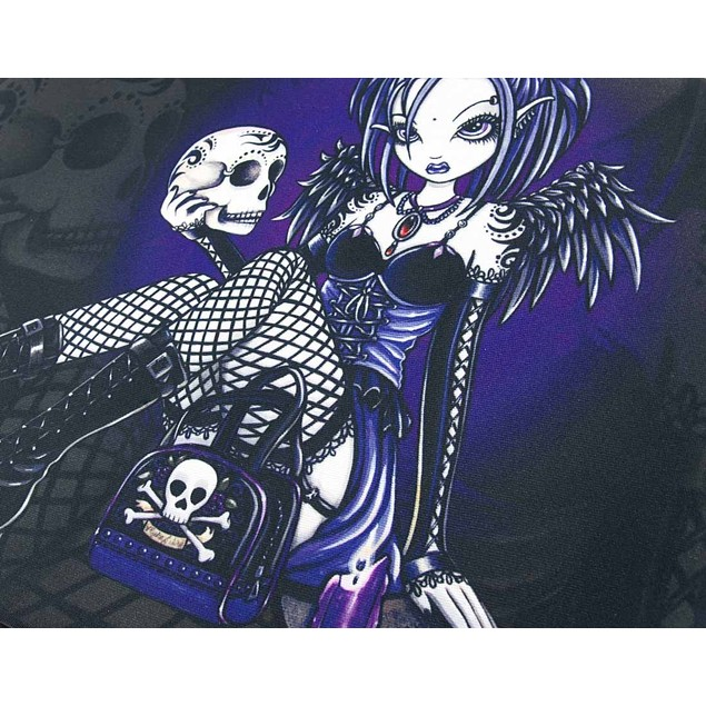 Purple/Black `Gabriella` Gothic Fairy Holding Touch Screen Tablet Computer