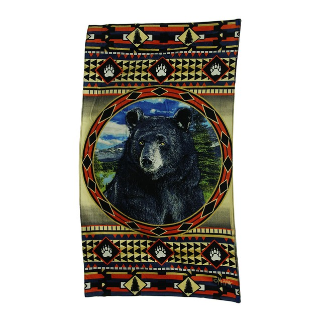 Bear Mountain Country Rustic Decorative Lodge Beach Towels