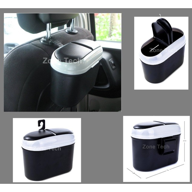 Zone Tech Car Small Trash Garbage Can Bin Litter Storage Organizer Bag Set
