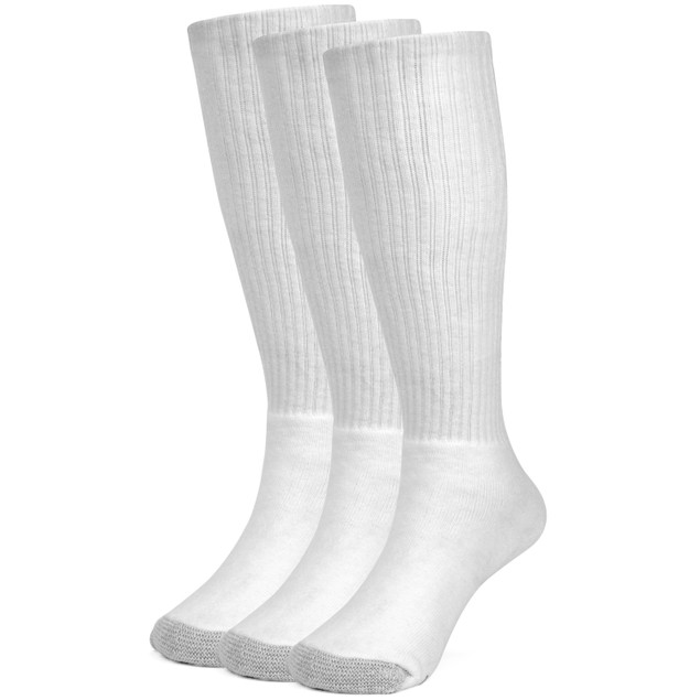 Galiva Girls' Cotton Extra Soft Over the Calf Cushion Socks - 3 Pairs