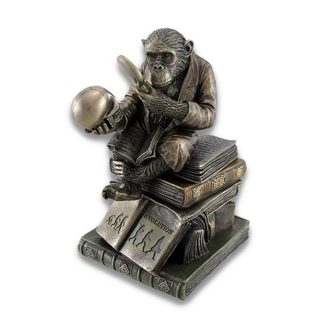 Smart Chimpanzee Scholar Trinket Box Stash Box Decorative Boxes