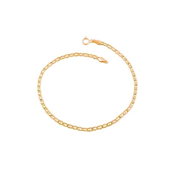 Flat Marina Anklet Crafted From Yellow .925 Sterling Silver