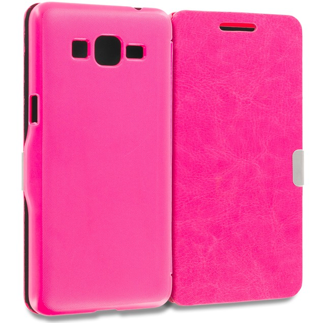Samsung Galaxy Grand Prime LTE G530 Slim Wallet Magnetic Flip Case Cover
