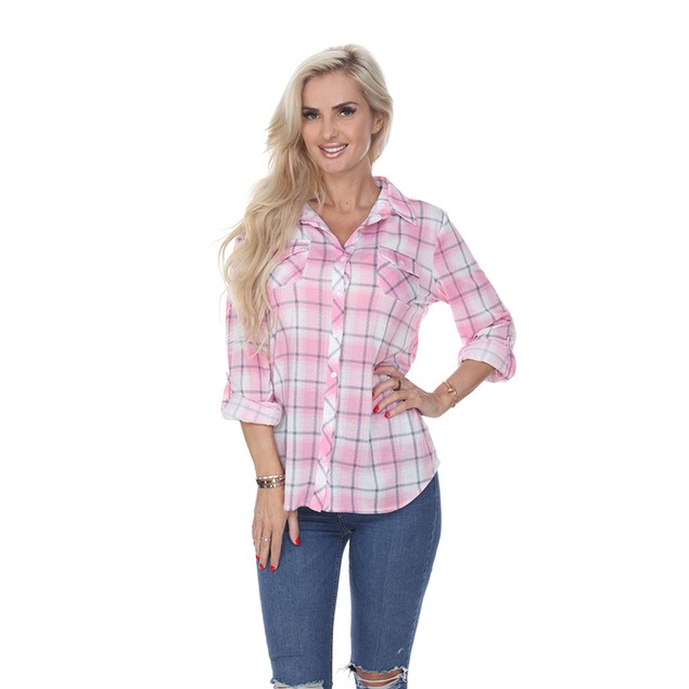 Women's Buttery Soft Plaid Top - 5 Colors
