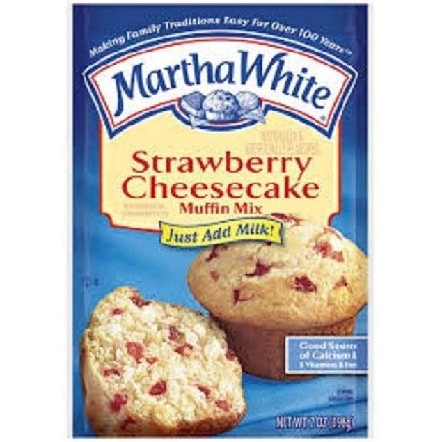 Martha White Strawberry Cheesecake Muffin Mix 7 oz Bag